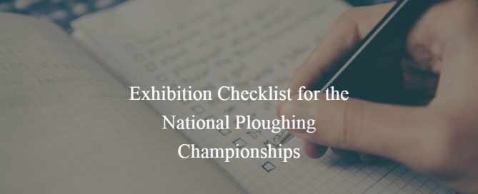 exhibition checlist