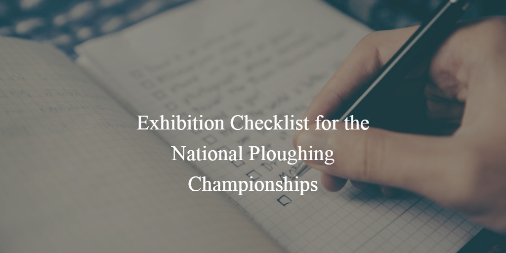 Exhibition Stand Checklist : Exhibition checklist preparation make your marketing displays