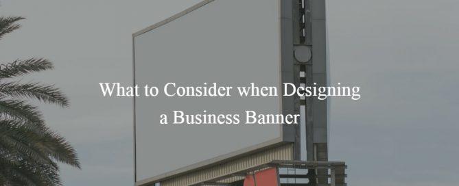 designing a banner